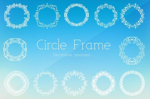 Concepto de ilustración de marco de ornamento de fondo abstracto dibujado a mano.