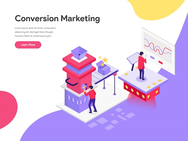 Concepto de ilustración de marketing de conversión