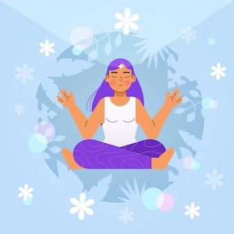 Concepto de ilustración de meditación