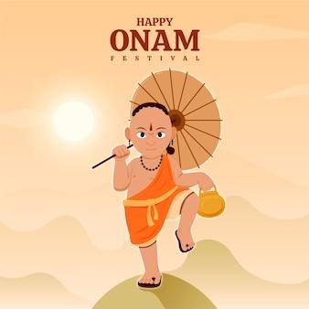 Concepto de ilustración plana onam