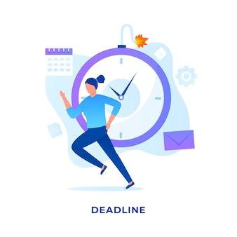 Concepto de ilustración de plazos