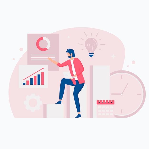 Concepto de ilustración de productividad