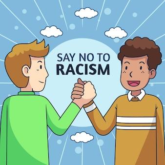 Concepto de ilustración de racismo