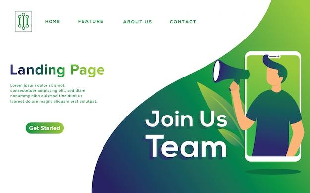 Concepto de ilustración de reclutamiento en línea