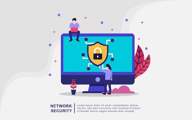 Concepto de ilustración de seguridad de red