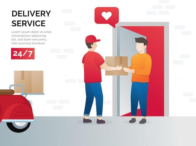 Concepto de ilustración de los servicios de transporte de carga