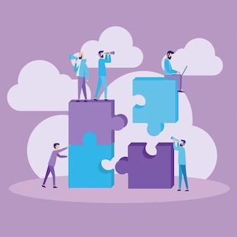Concepto de ilustración de trabajo en equipo