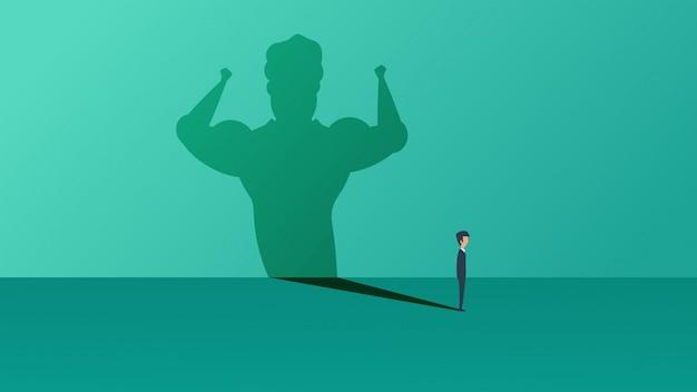 Concepto de ilustración de vector de negocio ambición líder hombre