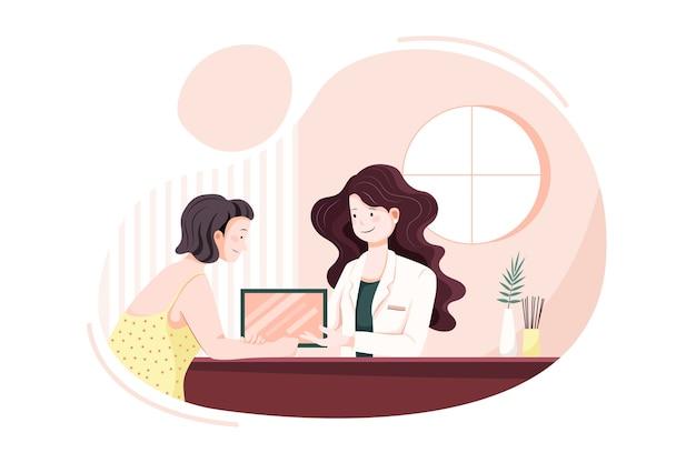 Concepto de ilustración de vector de servicio de masaje