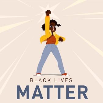 Concepto de ilustración de vidas negras importa
