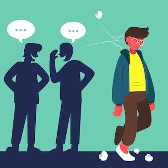 Concepto ilustrado de bullying