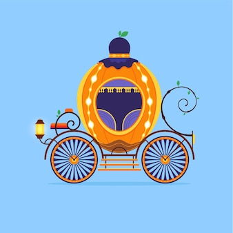 Concepto ilustrado de carro de cuento de hadas