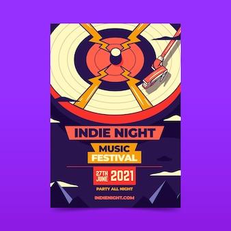 Concepto ilustrado del cartel del festival de música 2021