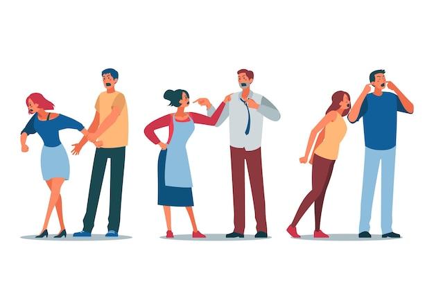 Concepto ilustrado de conflictos de pareja