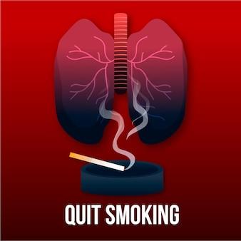 Concepto ilustrado para dejar de fumar