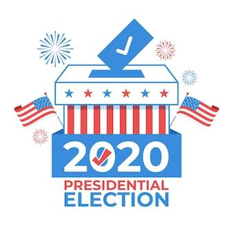 Concepto ilustrado de elecciones presidenciales de ee.