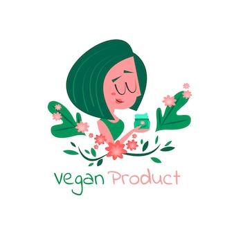 Concepto ilustrado libre de crueldad y vegano.