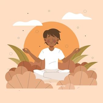 Concepto ilustrado de meditación
