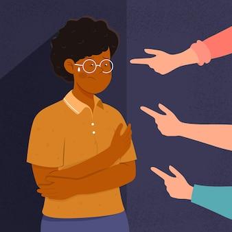 Concepto ilustrado racismo