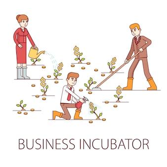 Concepto de incubadora de negocios