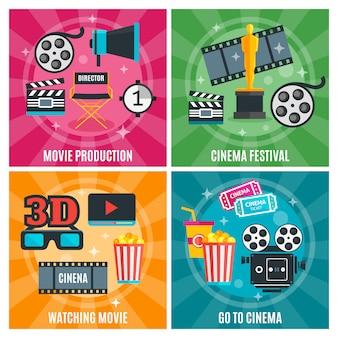 Concepto de industria del cine