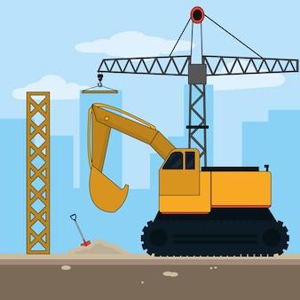 Concepto de industria de la construcción