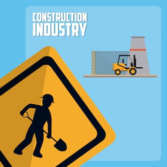 Concepto de la industria de la construcción