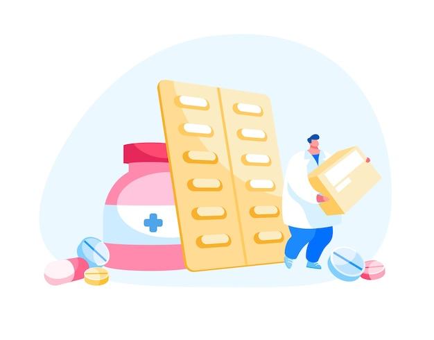 Concepto de industria de medicamentos y atención médica