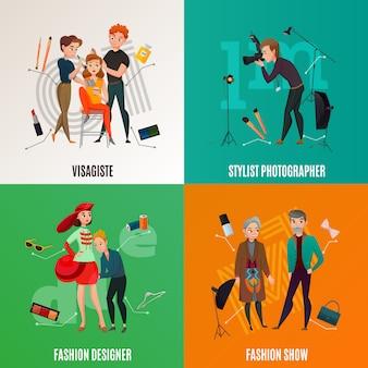 Concepto de la industria de la moda