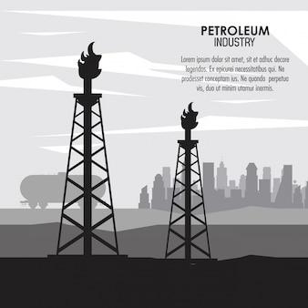 Concepto de la industria del petróleo