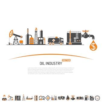 Concepto de industria petrolera