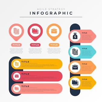 Concepto de infografía ágil