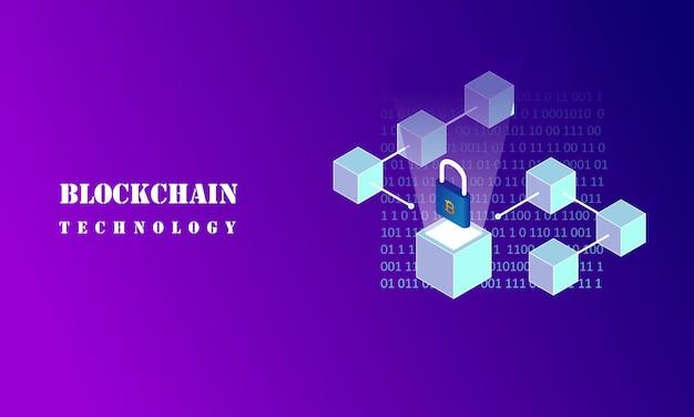 Concepto de infografía blockchain, ilustración de tecnología empresarial