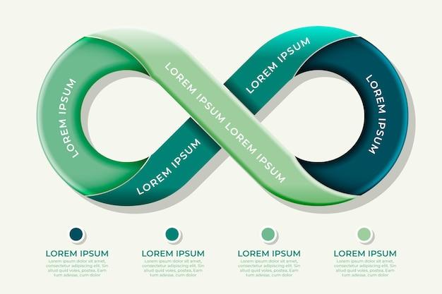Concepto de infografía bucle infinito