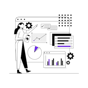 Concepto de infografía de datos comerciales