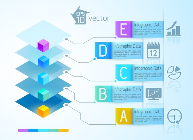 Concepto de infografía digital