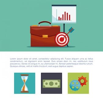 Concepto de infografía dinero y negocios