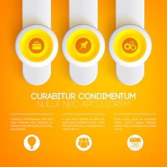 Concepto de infografía empresarial