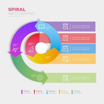 Concepto de infografía espiral