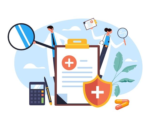 Concepto de infografía de farmacia de hospital farmacéutico de salud de medicina plana