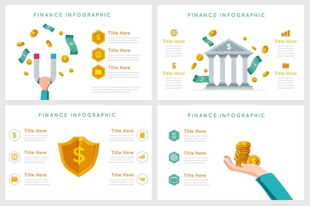 Concepto de infografía financiera