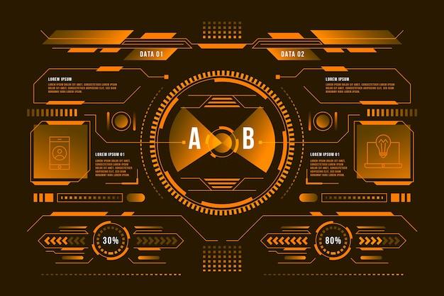 Concepto de infografía futurista