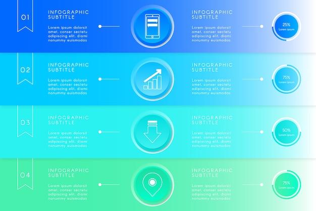 Concepto de infografía gradiente de negocios