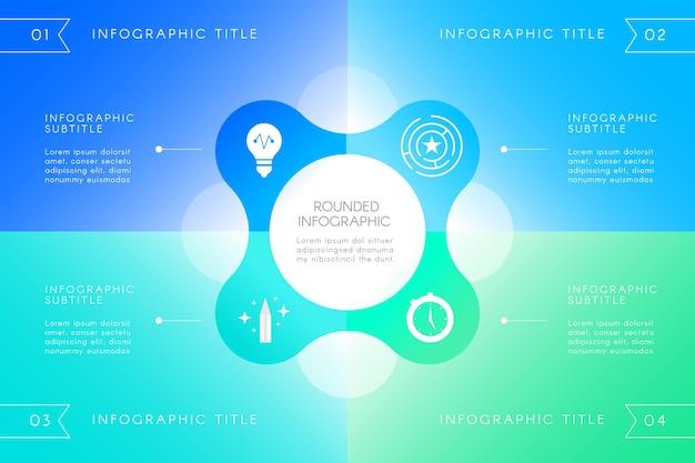 Concepto de infografía gradiente