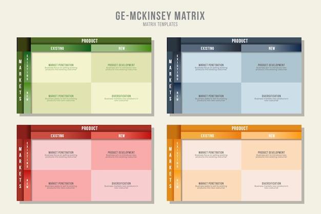 Concepto de infografía de gráfico de matriz