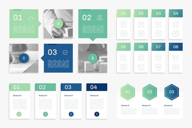 Concepto de infografía jerárquica