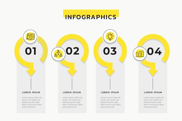Concepto de infografía de línea de tiempo