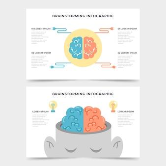Concepto de infografía de lluvia de ideas plana