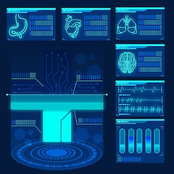 Concepto de infografía médica futurista
