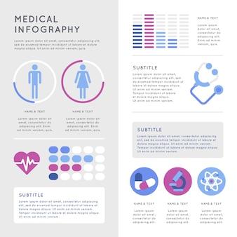 Concepto de infografía médica